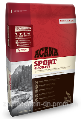 Cухой корм Acana Sport&Agility для собак с высокой активностью, на основе цыпленка и рыбы, 17 кг