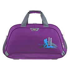 Дорожная сумка TONGSHENG 58x36x22 ткань полиэстер, два боковых кармана, цвет фиолетовый кс99311ф, фото 2