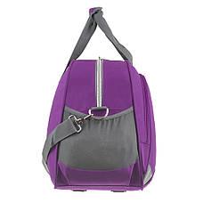 Дорожная сумка TONGSHENG 58x36x22 ткань полиэстер, два боковых кармана, цвет фиолетовый кс99311ф, фото 3