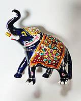 Фигурка статуэтка слон хобот вверх металл