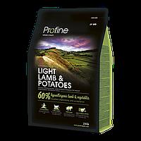Profine (Профайн) Light Lamb & Potatoes - сухой корм для взрослых собак с лишним весом с ягненком и картофелем 15кг