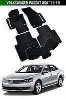 Килимки Volkswagen Passat USA '11-19. Текстильні автоковрики Фольксваген Пассат Фольцваген