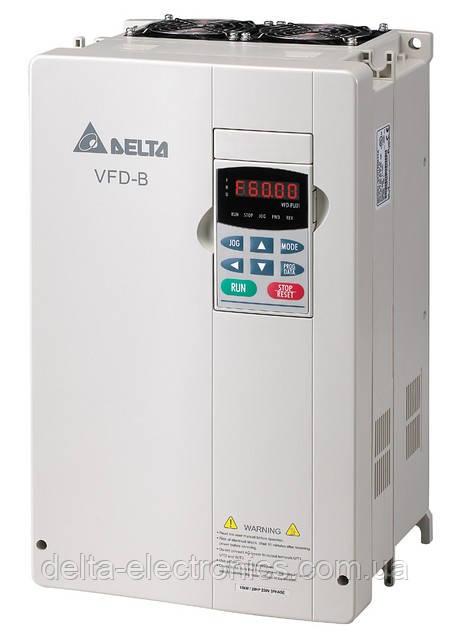 Перетворювач частоти Delta Electronics, 18,5 кВт, 460В,3ф.,векторний, загальнопромисловий,VFD185B43A