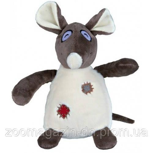 Игрушка для собак TRIXIE - Крыса с заплатками, 16 см