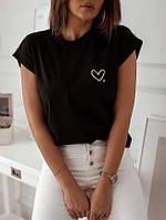 Женская футболка с серцем, фото 1