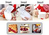 Отделитель косточек из вишни, черешни, маслин и оливок Cherry Pitter машинка для удаления косточек, фото 4