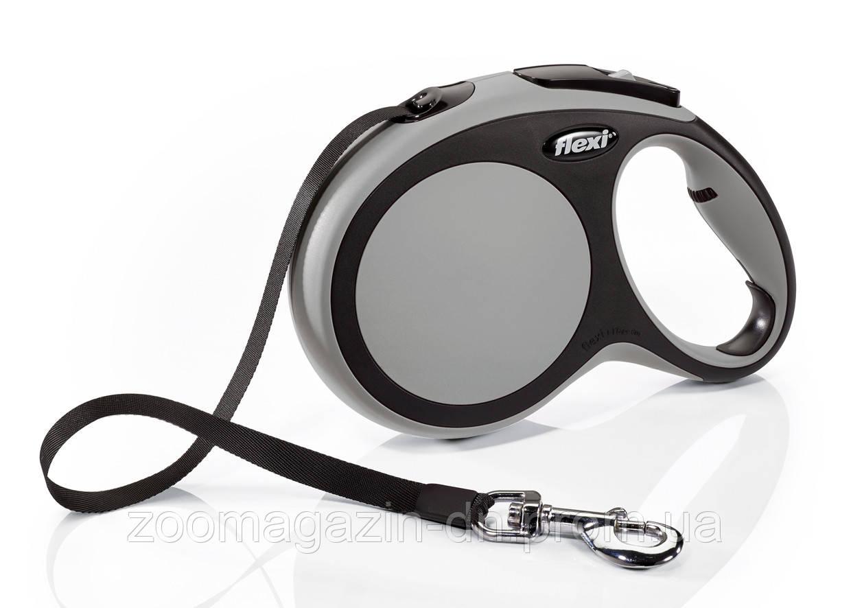 Поводок- Рулетка Flexi New Comfort  L Лента  8м, до 50 кг