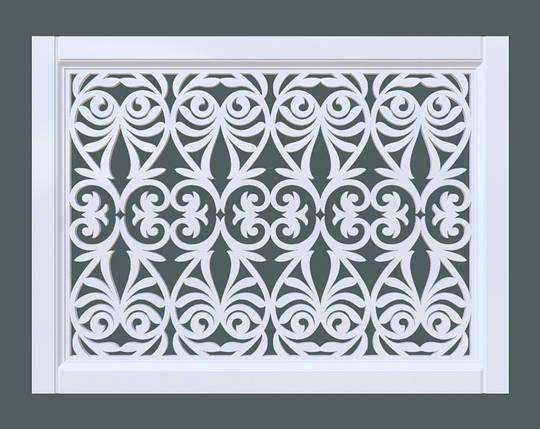 Декоративная решетка на батарею SMARTWOOD | Экран для радиатора | Накладка на батарею 600*600, фото 2