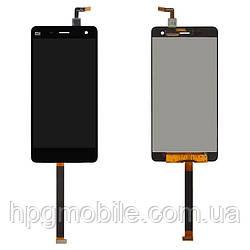 Дисплей для Xiaomi Mi4, Xiaomi Mi4x, модуль в сборе (экран и сенсор), черный, оригинал