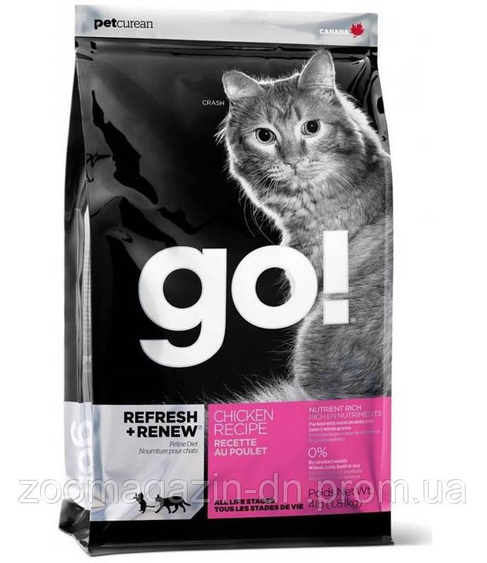 Корм GO! для котят и кошек со свежей курицей, фруктами и овощами (Refresh + Renew Chicken Cat Recipe 32/20),  100г