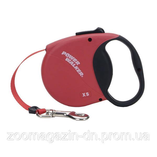 Power Walker рулетка-поводок для собак, 5 м , 10 кг., красный.