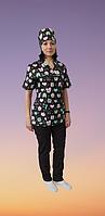 Куртка медицинская женская с  принтом, фото 1