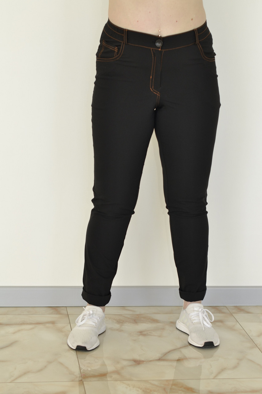 Женские джинсы в больших размерах на высокой посадке 1015644