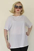 Свободная женская футболка в больших размерах 1015648