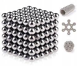 Головоломка Неокуб Neocube 216 шариков 5мм в металлическом боксе серебристый ave