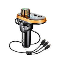 Трансмиттер ( FM модулятор) FM CAR Q15 5572 с Bluetooth и кабелем 3 в 1 ave