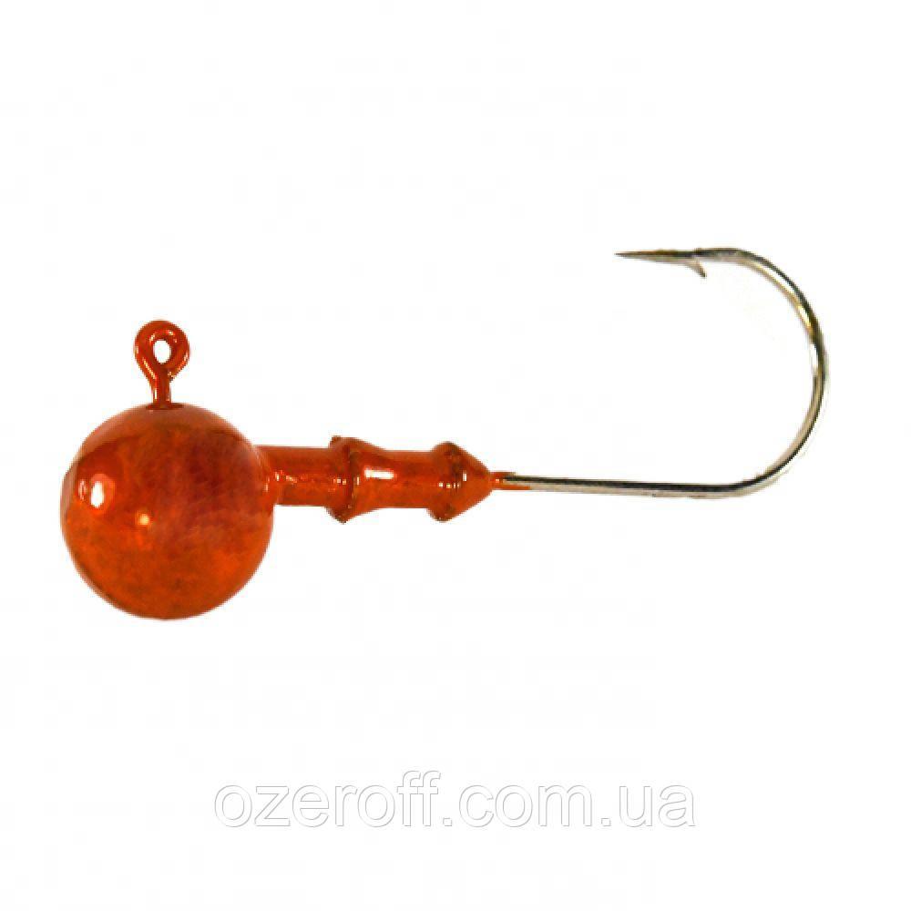 Джиг головка (Gamakatsu) 2/0 Оранжевая, 24 грамма (3шт/уп)