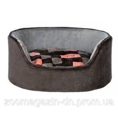 Лежак для собак Trixie - Currito,  100х75см,  серый / розовый
