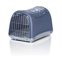 Imac ЛИНУС КАБРИО (LINUS CABRIO) переноска для собак и кошек, пластик, 50х32х34,5 см , синий.