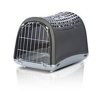 Imac ЛИНУС КАБРИО (LINUS CABRIO) переноска для собак и кошек, пластик, 50х32х34,5 см , темно-серый.