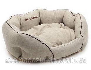 Лежак для собак «Кантри» бежевый 50х40х20 см