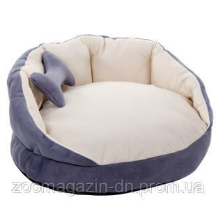 Лежак для собак «Буше» серый/молоко  54х54х27 см