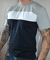Турецкая стрейчевая футболка трехполоска