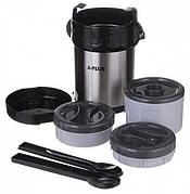 Термос пищевой на A-Plus 2 л. 3 в 1, ложка и вилка в комплекте