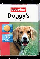 Beaphar Кормовая добавка Doggy's + Liver со вкусом печени для собак, 75 табл.