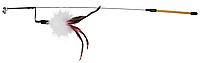 Удочка с перьями+колокольчик, TRIXIE  50 см