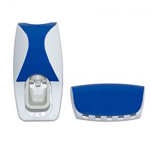 Дозатор для зубной пасты с держателем для щёток Jinxin-300 Синий (vol-579)