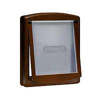 Staywell ОРИГИНАЛ дверцы для котов и собак маленьких пород , коричневый, 236Х198мм.