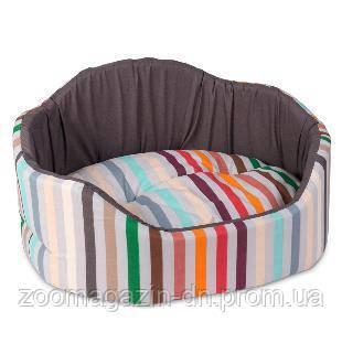 Лежак для собак «Коралл» коричневый 57х47х27 см