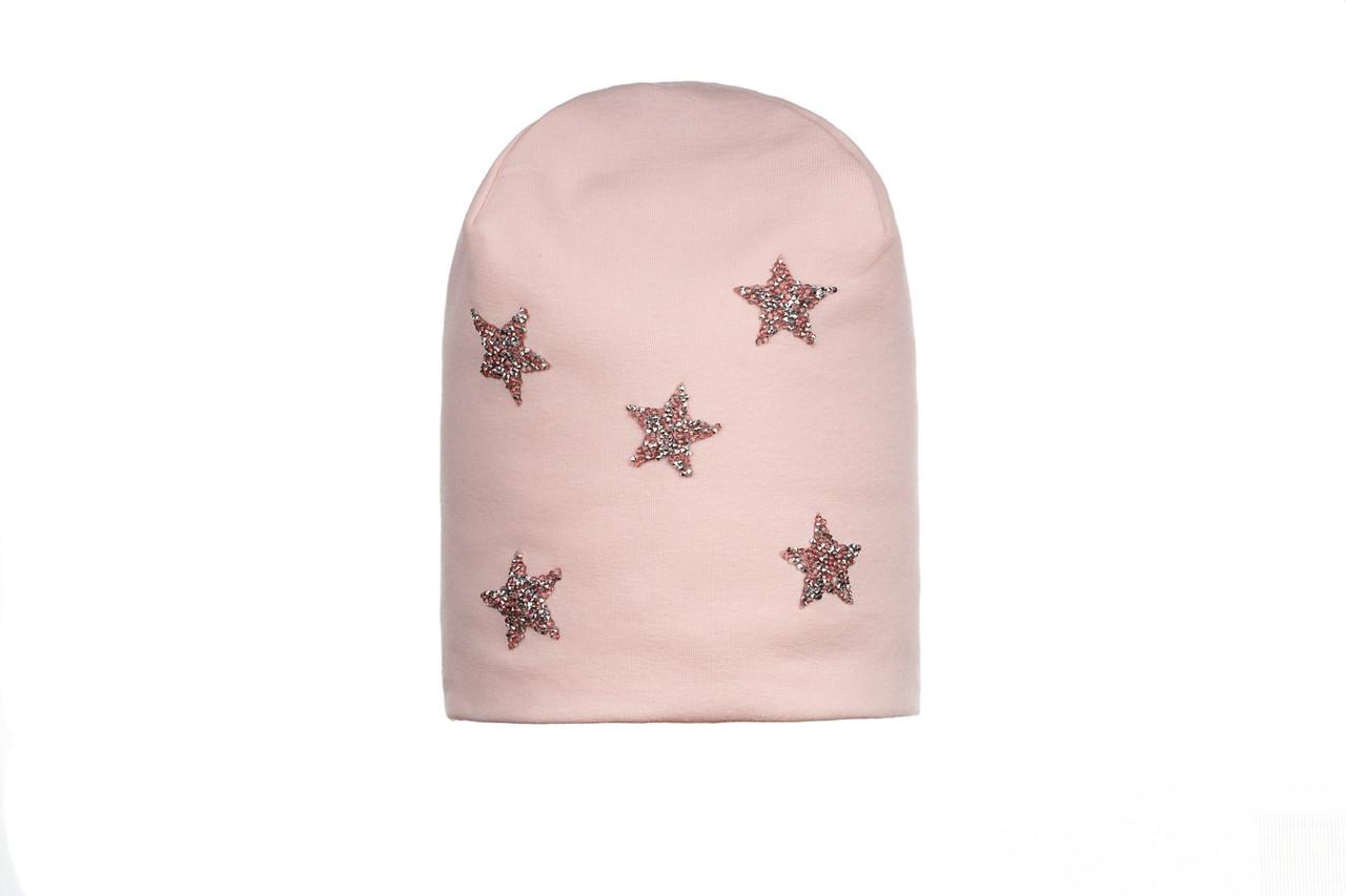 Шапка для девочки розовая GIAMO  (48-56)   TBG06