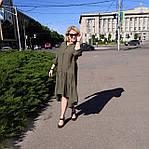 Сукня 2020 льон нейлон, оверсайз Бохо. 50-56, фото 9