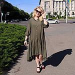 Платье красное хлопок, оверсайз Бохо. 48-56, фото 8