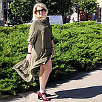 Сукня 2020 льон нейлон, оверсайз Бохо. 50-56, фото 7