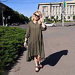 Платье 2020 лен нейлон, оверсайз Бохо. 50-56, фото 5