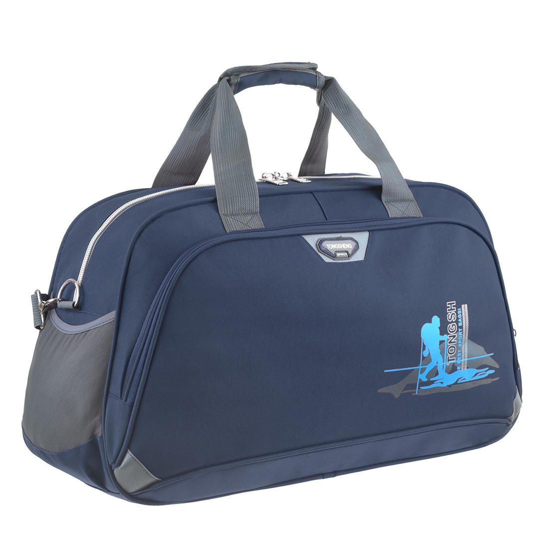Дорожная сумка TONGSHENG  средняя 58x36x22 ткань полиэстер, два боковых кармана, цвет синий кс99311син