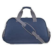 Дорожная сумка TONGSHENG  средняя 58x36x22 ткань полиэстер, два боковых кармана, цвет синий кс99311син, фото 2