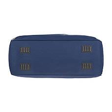 Дорожная сумка TONGSHENG  средняя 58x36x22 ткань полиэстер, два боковых кармана, цвет синий кс99311син, фото 3