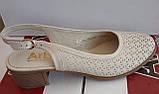 Босоножки женские большого размера из натуральной кожи от производителя модель АР565В, фото 3