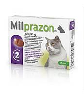 Милпразон - антигельминтный препарат широкого спектра действия для котят и кошек весом  2 -8 кг (1 уп./2 таб.) КRКА