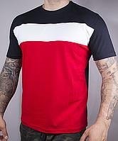 Турецкая стрейчевая футболка трехполоска, фото 1