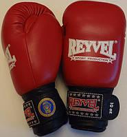 Рукавиці боксерські REYVEL, ФБУ 10oz, червоні, фото 1