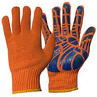 Перчатки рабочие хлопок с усиленной поверхностью ,хозяйственные перчатки