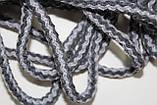 Шнур круглый 6мм акрил 100м серый + темно серый, фото 2