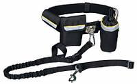 Комплект для бега с собакой TRIXIE, ремень: 60-120 см / 40 мм поводка: 1,00-1,35 м / 25 мм