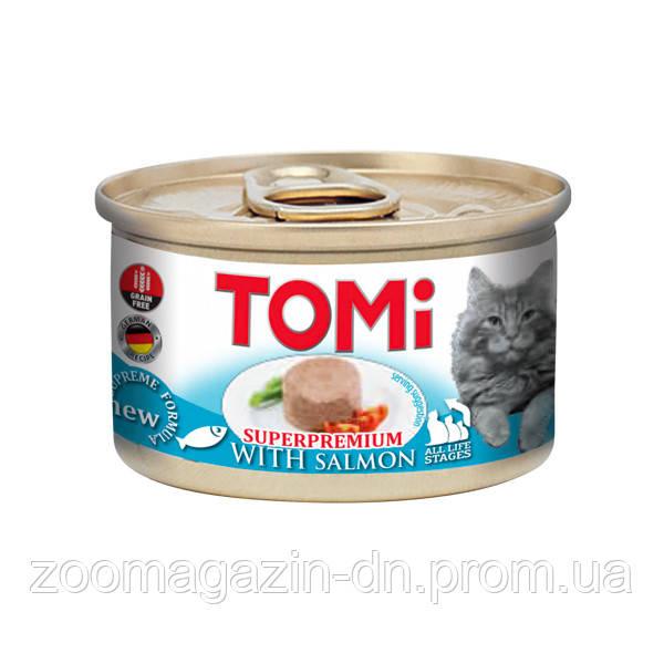 TOMi Salmon ТОМИ ЛОСОСЬ, консервы для котов, мусс, 0,085 кг