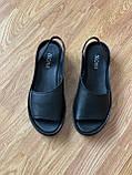 Босоніжки жіночі шкіряні чорні, фото 2